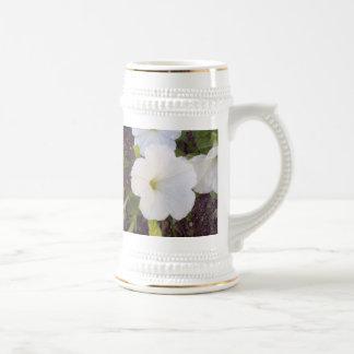 Fleurs blanches mugs à café