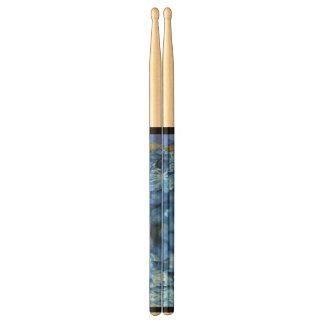 Fleurs bleues baguettes de tambour