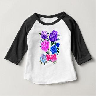 Fleurs colorées Art7 T-shirt Pour Bébé