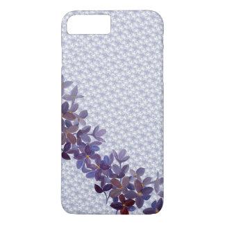 Fleurs d'aquarelle de mariage avec le motif de coque iPhone 7 plus
