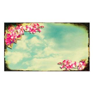 Fleurs de carte de visite dans le ciel