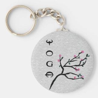 Fleurs de cerisier - cadeaux artistiques de yoga porte-clé rond