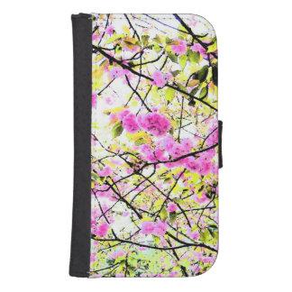 Fleurs de cerisier coque avec portefeuille pour galaxy s4