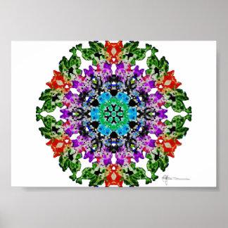 Fleurs de Crêpe-Papier Poster