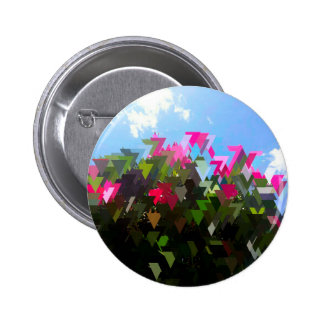 Fleurs de Glitchin Macaron Rond 5 Cm