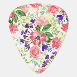 Fleurs de jardin d'aquarelle onglet de guitare