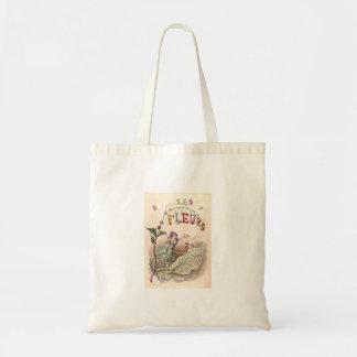 fleurs de les sac en toile budget