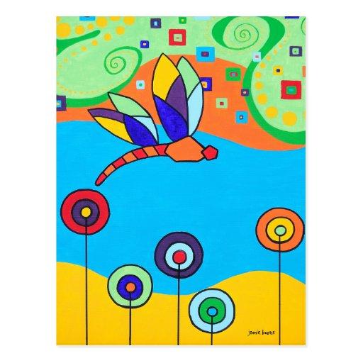 Fleurs de libellule et de lucette carte postale