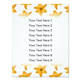 Fleurs de lis tigré. Modèle Carton D'invitation 10,79 Cm X 13,97 Cm