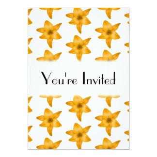 Fleurs de lis tigré. Modèle Carton D'invitation 12,7 Cm X 17,78 Cm