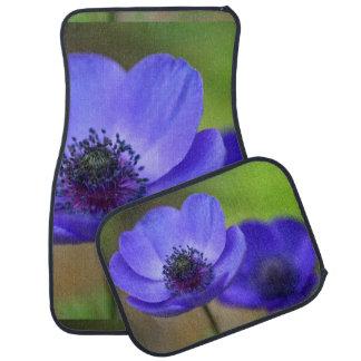 Fleurs de pavot bleu tapis de voiture