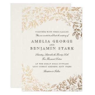 Fleurs de récolte carton d'invitation  12,7 cm x 17,78 cm