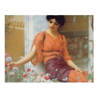 Fleurs d'été par John William Godward Cartes Postales