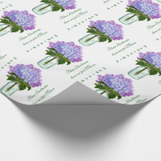 """""""Fleurs d'hortensia"""" Wrapping Paper"""