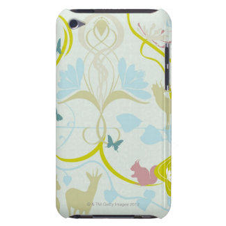 Fleurs et animaux coque barely there iPod