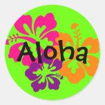 Fleurs hawaïennes audacieuses et lumineuses autocollants