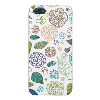 Fleurs mignonnes de griffonnage et cas illustré étuis iPhone 5