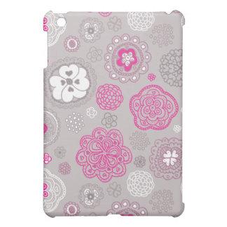 Fleurs mignonnes de griffonnage et cas illustré pa coque iPad mini