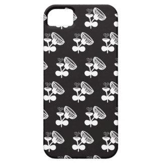 Fleurs noires et blanches de pavot iPhone 5 case