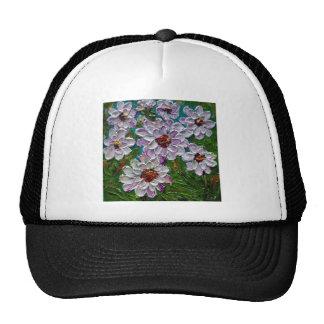 Fleurs peintes à la main de dahlia casquettes