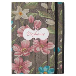 """Fleurs peintes sur le pro cas d'iPad en bois iPad Pro 12.9"""" Case"""