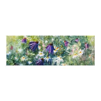 Fleurs pourpres de cône toile tendue sur châssis