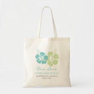 Fleurs tropicales de ketmie sac en toile budget
