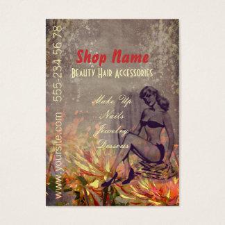Fleurs vintages - carte de visite