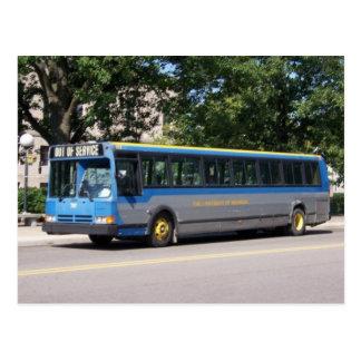 flex bus transit postcard
