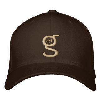 Flex Fit Cap w Khaki I'm G Logo Embroidered Baseball Caps