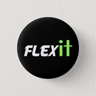 Flex it green 1 inch round button