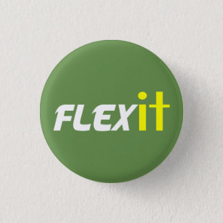 Flex it yellow 1 inch round button