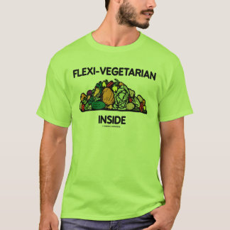 Flexi-Vegetarian Inside (Pile Of Vegetables) T-Shirt