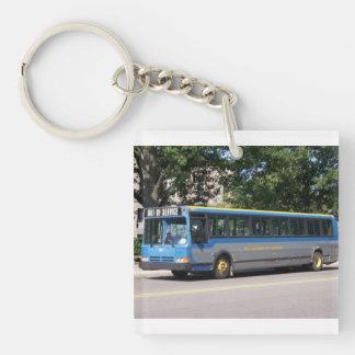 FLEXIBLE BUS  U OF MI Single-Sided SQUARE ACRYLIC KEYCHAIN