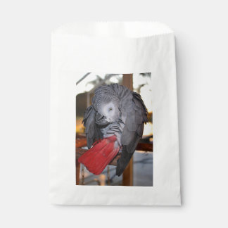Flexible Congo African Grey Parrot with Red Tail Favour Bag