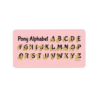 Flexible Pony | Alphabet Chart