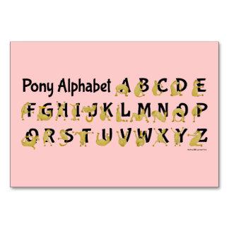 Flexible Pony | Alphabet Chart Table Cards