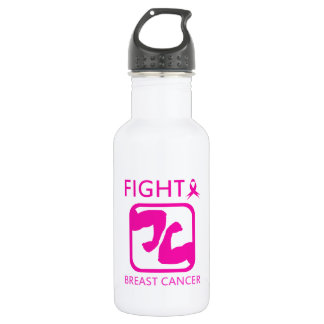 Flexing arms to fight breast cancer 532 ml water bottle