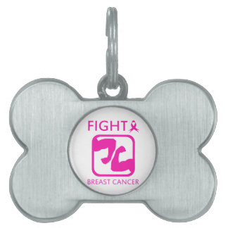 Flexing arms to fight breast cancer pet tag