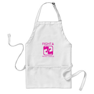 Flexing arms to fight breast cancer standard apron
