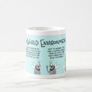 Flies and the world environment day coffee mug