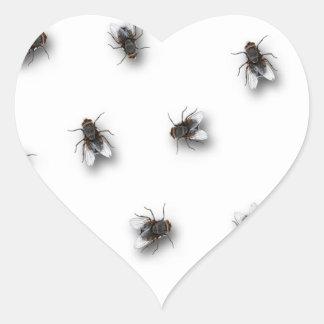 Flies Heart Sticker