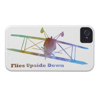 """Flies Upside Down"" Biplane iPhone 4 Case-Mate Cases"