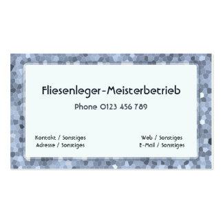 fliesenleger business card template