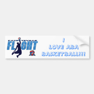 FLIGH I LOVE ABA BASKETBALL BUMPER BUMPER STICKER