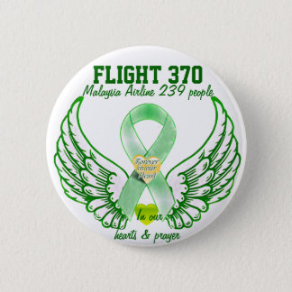 Flight 370-Forever in our hearts & prayers_ 2 Inch Round Button