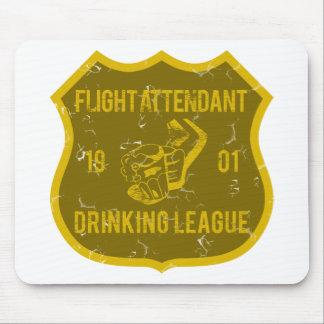 Flight Attendant Drinking League Mouse Pad