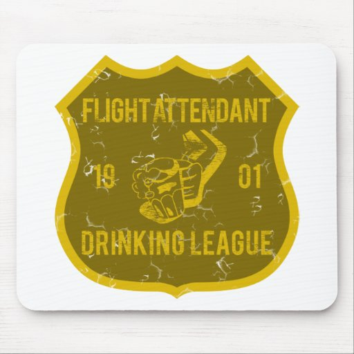 Flight Attendant Drinking League Mouse Pads