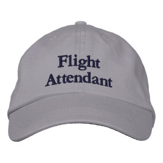 Flight Attendant Embroidered Baseball Cap