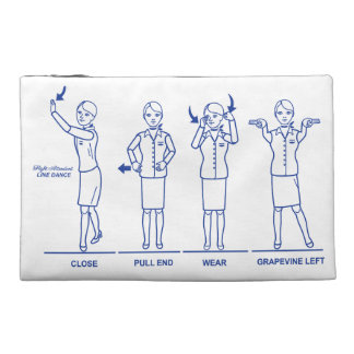 Flight Attendant Line Dance Travel Pouch